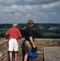 View from Castle at Loches, France