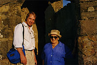 Wade Rowland and Lily in Carcassonne, France